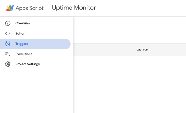 Uptime monitor with google sheets